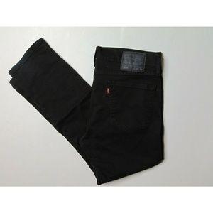 Levis 510 34 x 28 Black Skinny Fit Jeans Denim